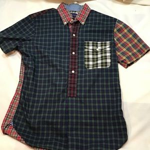 Ralph Lauren Christmas Plaid short sleeved top